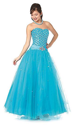 Свадебное платье голубого цвета 5