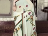 Белое сари с вышивкой