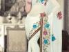 Подвенечное сари с вышивкой