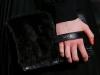 Клатч меховой под черное платье, Valentino