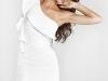 Белое короткое вечернее платье