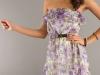 Модное платье без бретелек лето 2012