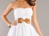 белое платье без бретелек