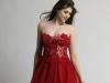 Красное короткое платье на выпускной 2014