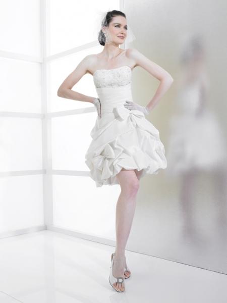 Короткое свадебные платья 2012