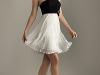 Платье черный верх белый низ