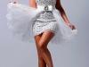 Белое короткое платье на выпускной