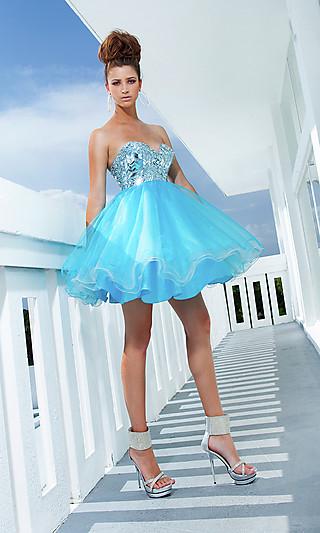 Платье на выпускной пышное короткое