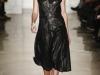 Кожаное черное платье