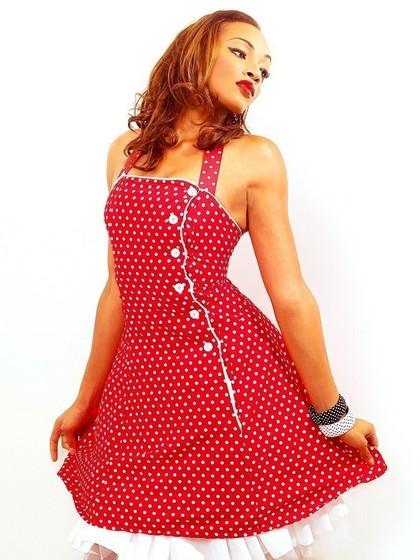 короткие пышные цветные платья