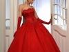 Красные свадебные платья 2011