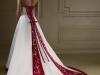 Свадебное платье белое с красным