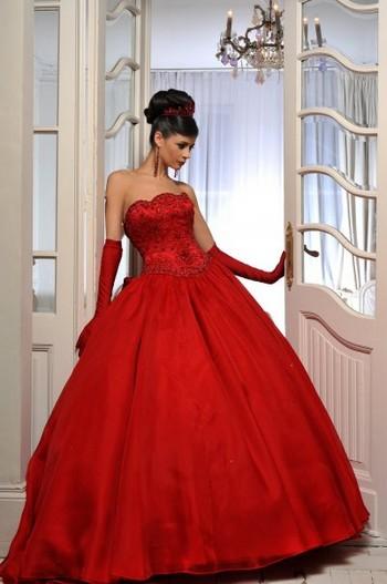 Картинки свадебных платьев в красном стиле