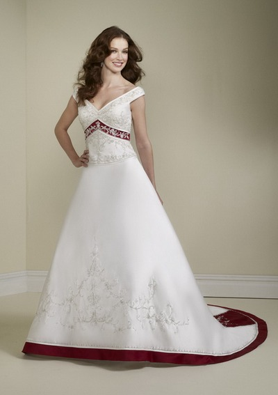 Красно белые платья