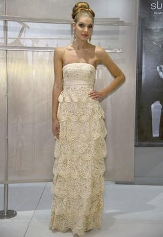 Свадебное платье короткое кружевное