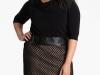 Модное маленькое черное платье для полных Adrianna Papell