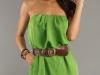Зеленое летнее мини платье