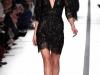Короткое кружевное черное платье на весну 2014, Elie Saab