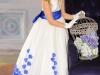 Белое платье на Новый год девочке