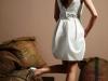 Свадебное короткое платье с юбкой баллон