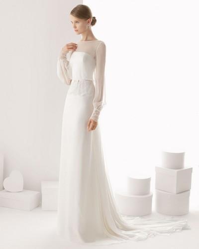 Платье свадебное простое белое