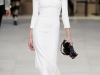 Белое платье миди Burberry Prorsum