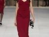 Красное платье миди Burberry Prorsum