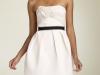 Короткое белое платье тюльпан