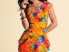 Короткое платье тюльпан с принтом