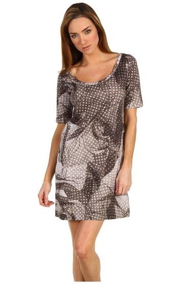 Модные фасоны платьев в горошек