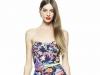 Короткое летнее платье с цветочным принтом 2014 фото, Patrizia Pepe