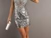 Короткое клубное платье на 8 марта