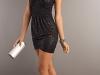Короткое черное платье на День Святого Валентина