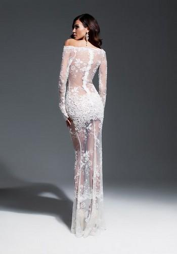 Купить белое прозрачное платье