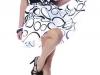 Платье с бантом черно-белое