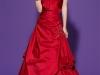 Длинное платье красное с бантом