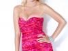 Короткое розовое платье с бантом фото
