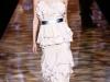 Длинное платье с воланами и баской от Badgley Mischka