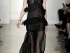 Черное платье с баской Francesc by Frank Tell