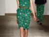Зеленое платье с баской дизайнера Karen Walker