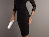 Кружевное черное платье с длинными рукавами