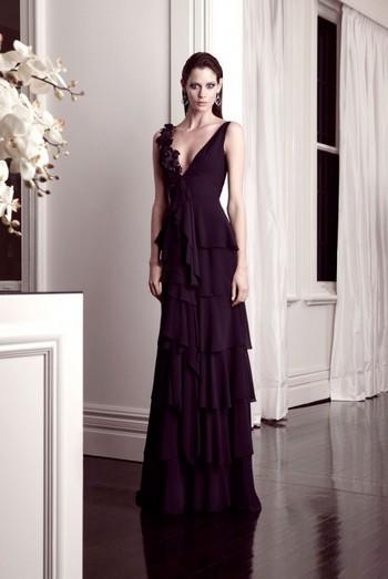 Длинные вечерние платья с декольте