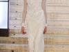 Белое вечернее платье с воротником, Antonio Berardi Осень-Зима 2012-2013