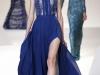 Синее вечернее платье с воротником, Elie Saab Осень-Зима 2012-2013