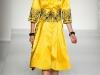 Желтое платье в стиле ретро 2012, коллекция Moschino