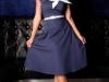 Синее платье в стиле стиляг