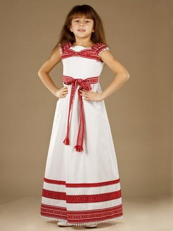 Платье для девочки народное