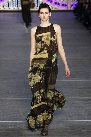 Платья хиппи kenzo коллекция осень зима