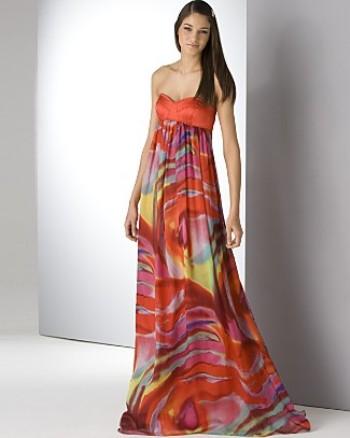 MATTHEW WILLIAMSON Шифоновое платье в пол со