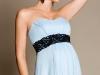 Голубое свадебное платье для беременных